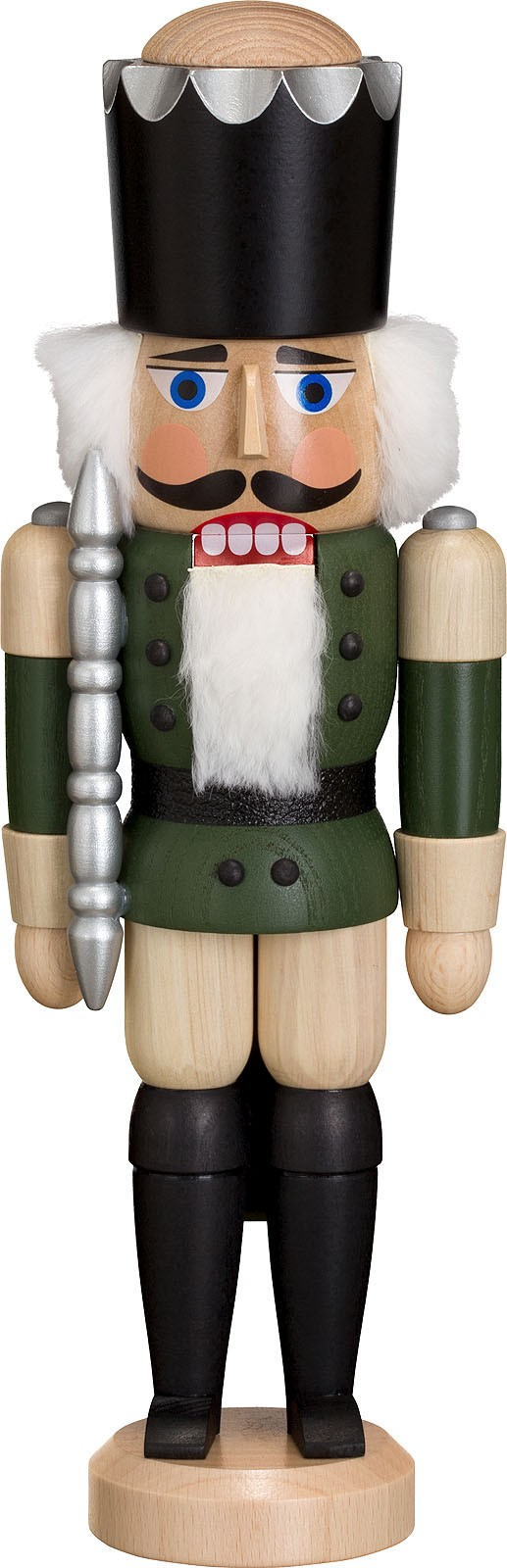 nutcracker king, ash tree glazed, green