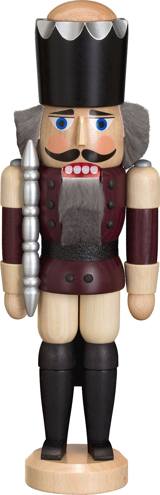 nutcracker king, ash tree glazed, aubergine-coloured