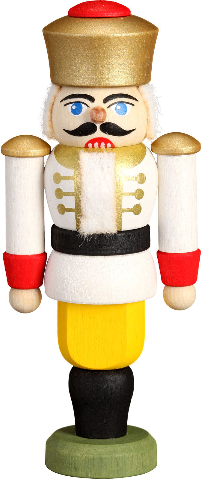 miniature nutcracker king, white