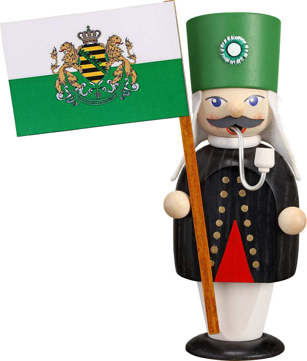 incense smoker Miner with Flag- little journeyman