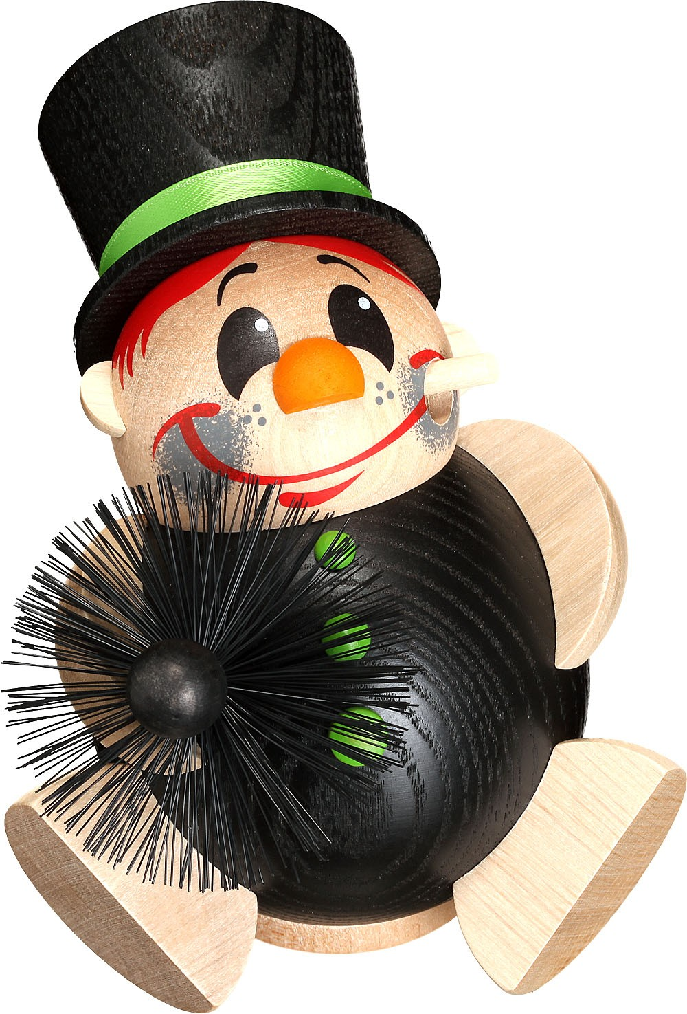 spheric incense smokers, professions - chimney sweep with brush