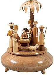musical box Nativity, natural coloured