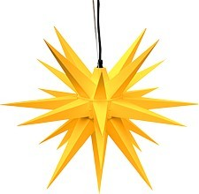 Herrnhut star, for outside, yellow
