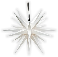 Herrnhut star, for outside, white