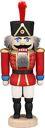 miniature nutcracker hussar red