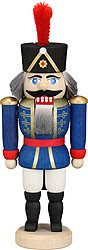miniature nutcracker hussar blue