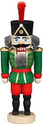 miniature nutcracker hussar green