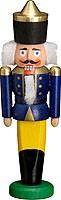 miniature nutcracker king blue