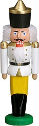 miniature nutcracker king white
