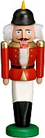 miniature nutcracker soldier red