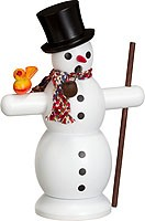 incense smoker, snowman with scarf