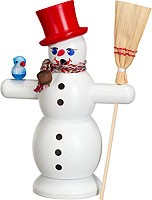 incense smoker, snowman with red hat