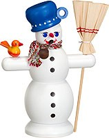 incense smoker, snowman with blue pot