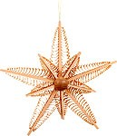 tree ornament, shaved star, large, triple