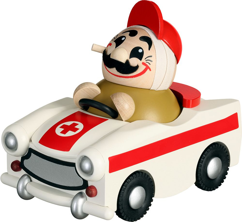 spheric incense smoker, ambulance man in trabant-limited