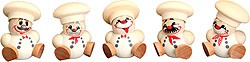 tree ornament, spheric figure cook, 5pcs set