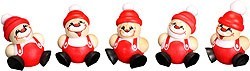 tree ornament, spheric figure St Nicholas, 5pcs set