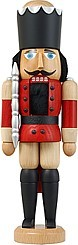 miniature nutcracker dane red