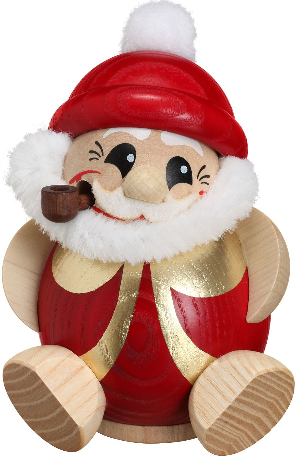 spheric incense smokers - santa claus red and gold