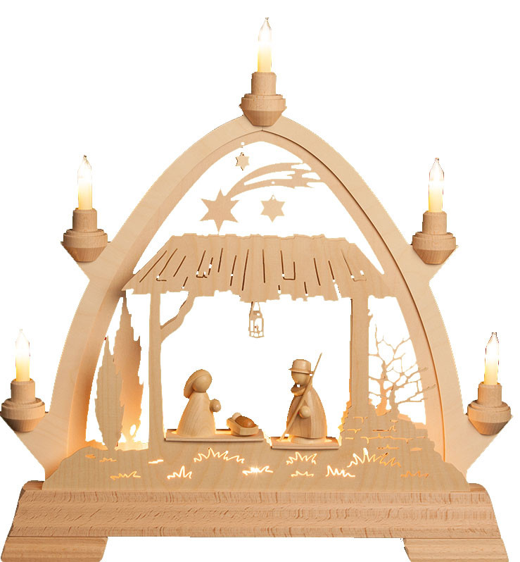 Gothic arch stall Holy Family - modern