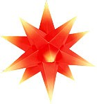 Marienberger Advent star - red core with yellow peaks