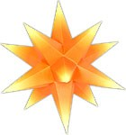 Marienberger Advent star - orange core with yellow peaks