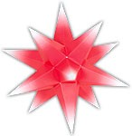 Marienberger Advent star - red core with white peaks