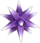 Marienberger Advent star - violet core with white peaks