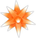 Marienberger Advent star - orange core with white peaks