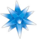 Marienberger Advent star - blue core with white peaks