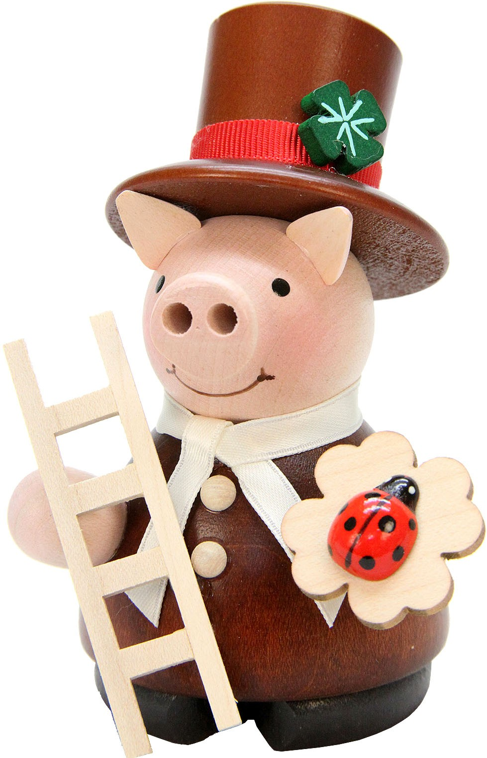 incense smoker, lucky pig chimney sweep, natural