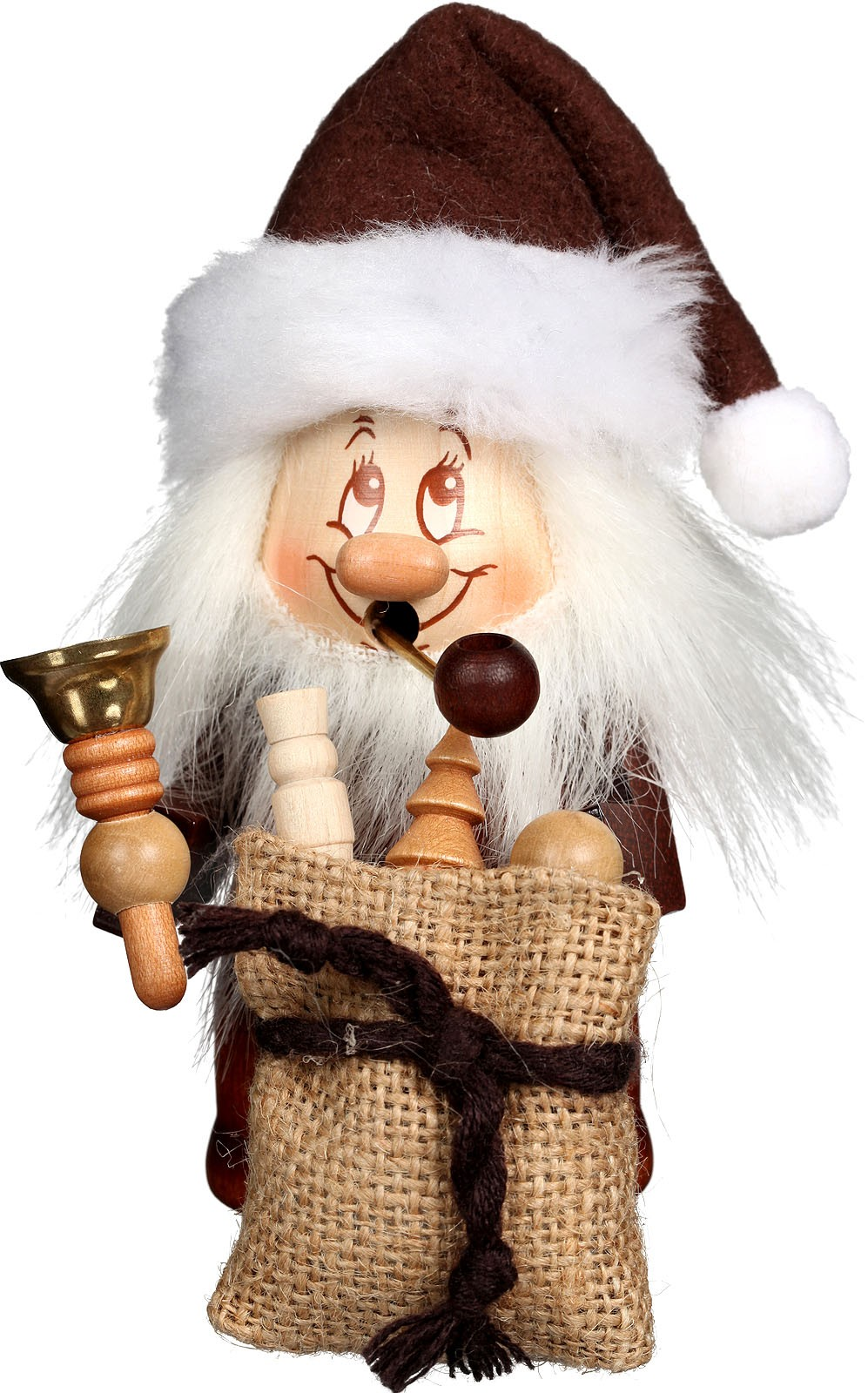 incense smoker, mini imp Santa Claus with bell