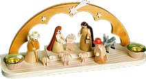Candle holder christi nativity