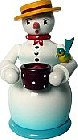 incense smoker, snowwoman