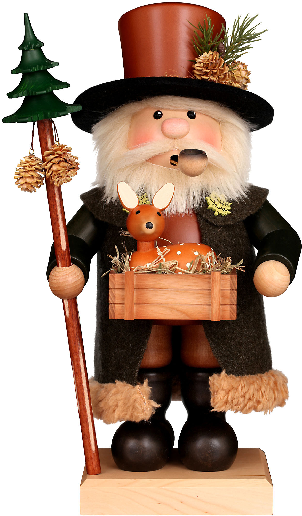 incense smoker woodsman, natural
