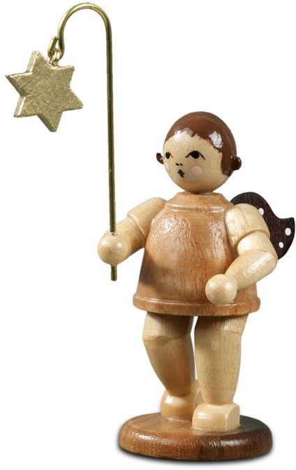 Lampion angel with lampion star / natural without-crown