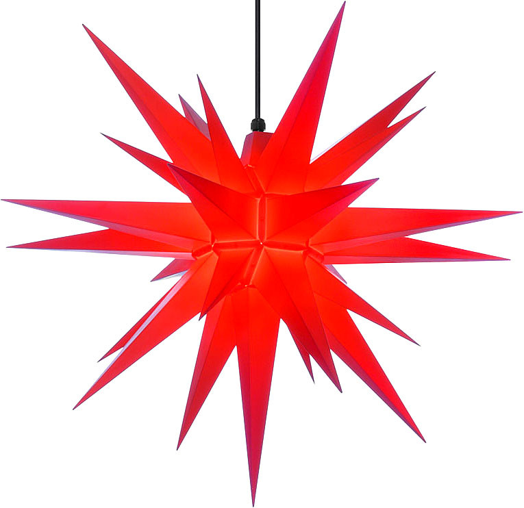 Herrnhut star, for outside, red