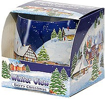 aroma candle winter view