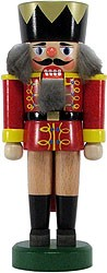 nutcracker king, red/yellow