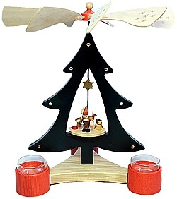 tree pyramid dwarf with deer for tealights