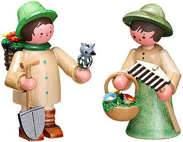 gardener couple-small colorful