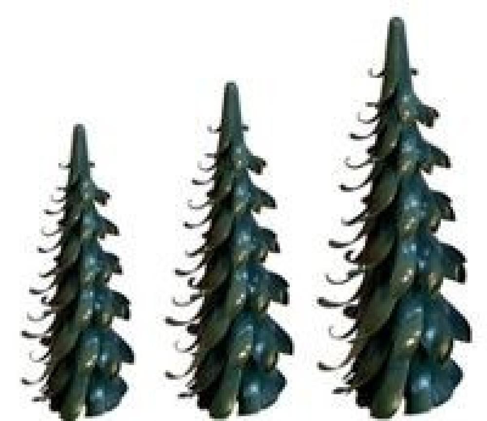Gröschel Spiralbaum grün, 2x 9cm und 1x 11cm