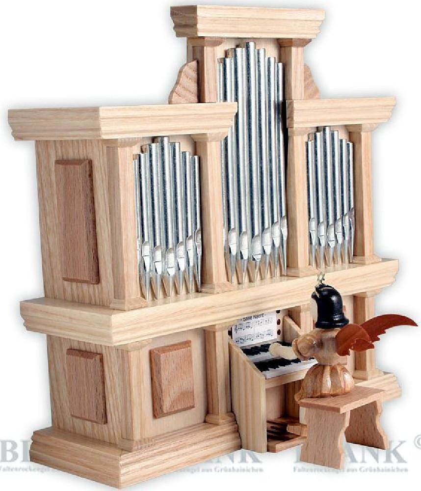 Blank Kurzrockengel an der Orgel