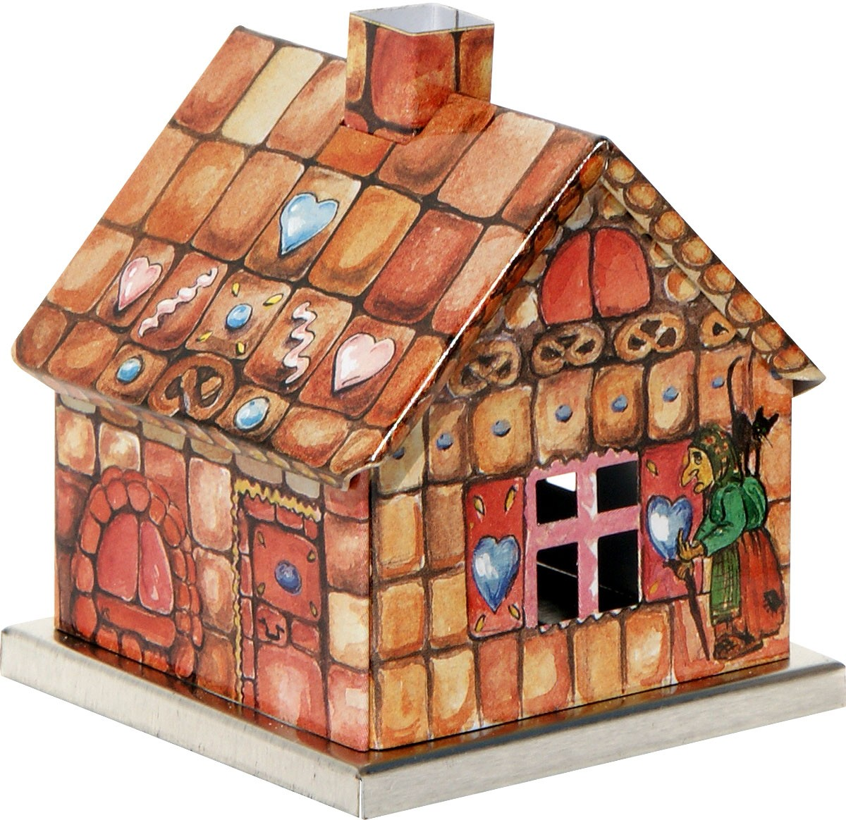 incense smoking house winter design - gingerbread house