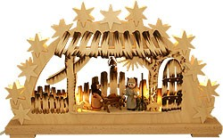 3D light arch Holy Night, small