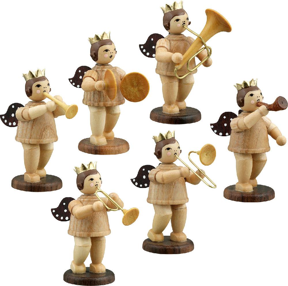 Ellmann Engelmusikanten 6-teilig, Variante 1 - natur