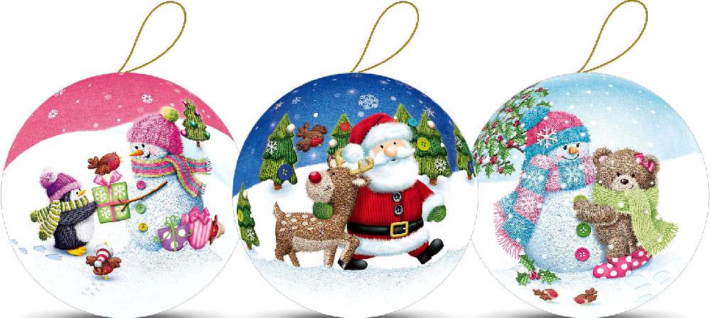 Weihnachtskugeln - Winterwald