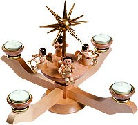 Candle holder advent natural for tee lights