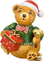 tree clip , Christmas teddy