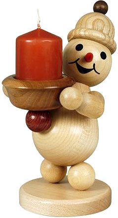 candle holder snowman junior - light holder, left